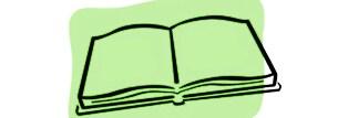 Il disegno di un libro aperto