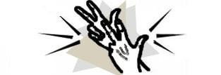 Il disegno di due mani che segnano