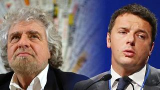 Grillo: Renzi è come una scrofa ferita. Il premier: non fatevi fregare