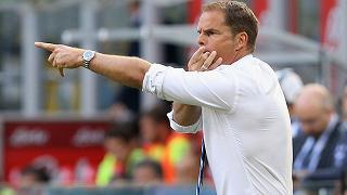 """De Boer: """"Inizio non facile, troppa pressione"""""""
