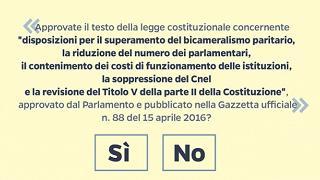 Referendum, ecco il quesito stampato sulla scheda