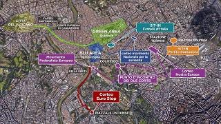 Sei manifestazioni nella capitale Zone vietate al traffico: la mappa