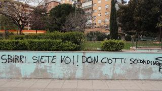 """Scritte contro Don Ciotti anche  a Palermo: """"Sei un secondino"""""""