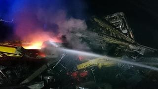 Scontro tra 2 convogli ferroviari Morti due operai, altri tre feriti