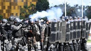 Proteste contro il presidente Temer Vandalismi e scontri con la polizia