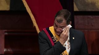 Il pianto di Rafael Correa Al suo posto Lenín Moreno