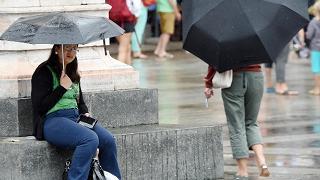 Violento temporale a Milano dopo  un sabato italiano da caldo record