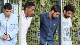 I quattro arrestati per la strage davanti al tribunale Madrid