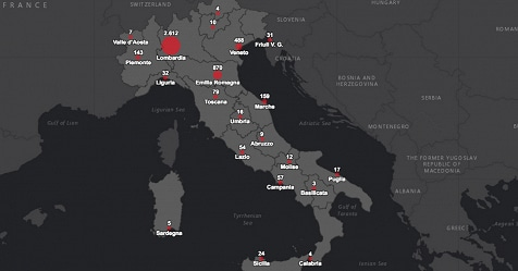 Cartina Italia Interattiva Html.Coronavirus Protezione Civile Mette Online Mappa Interattiva Sulla Situazione In Italia Rai News