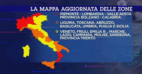 Emilia Romagna Cartina Province.Coronavirus Zona Arancione Da Oggi Nuove Misure Per 5 Regioni Altre 4 A Rischio Rai News