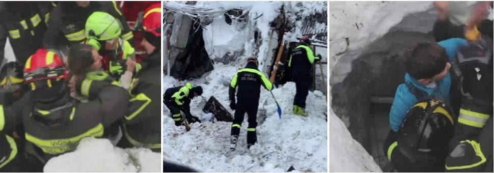 In salvo 4 bambini e una donna Ancora 5 persone sotto le macerie