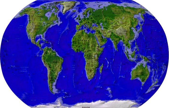Il globo la mappa il mondo