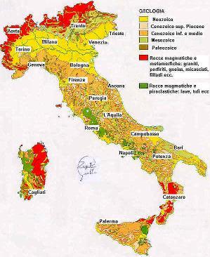 Grr news presentata la nuova carta geologica d italia - Regioni italiane non bagnate dal mare ...