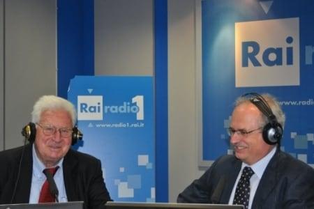 Pierluigi Pirandello negli studi di Radio Uno