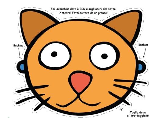 Rai yoyo maschera gatto - Pagina colorazione maschera gatto ...