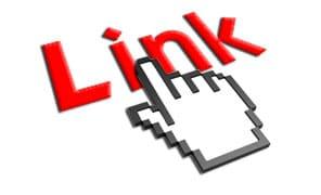 Una mano che indica la scritta Link