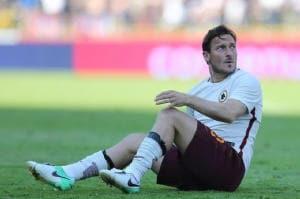 Toma: infortunio Totti, out per Pescara
