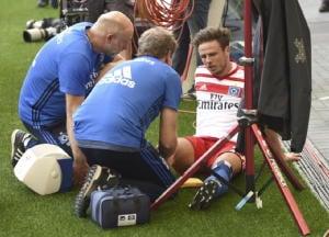 Calcio:piroetta e gol,Muller 6 mesi stop