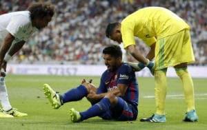 Barcellona, L.Suarez out 4-5 settimane