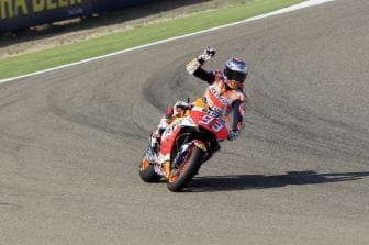 Moto: Aragon, Marquez 1/o nel warm up
