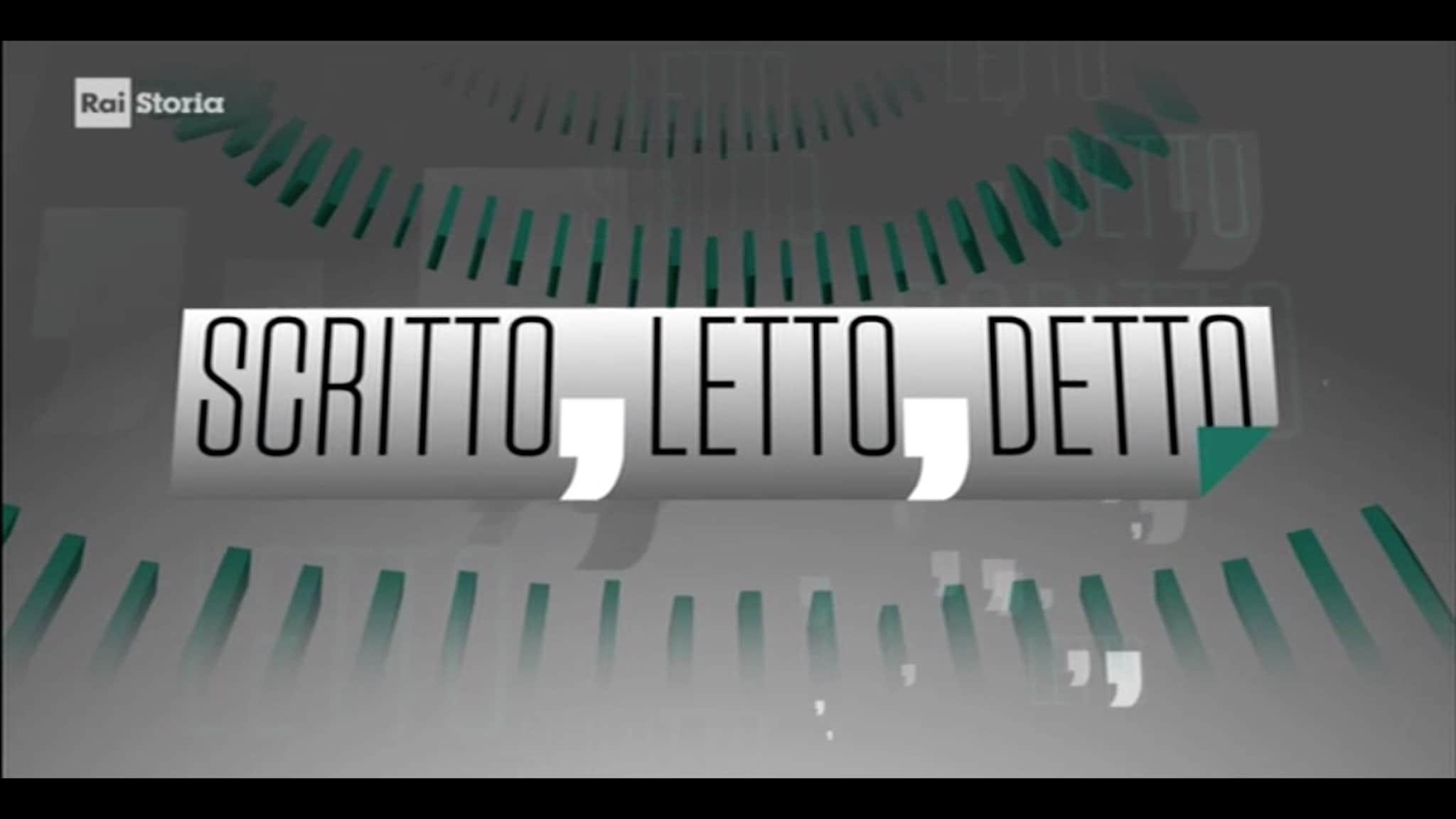 Rai Storia Scritto, letto, detto: Emilio Gentile