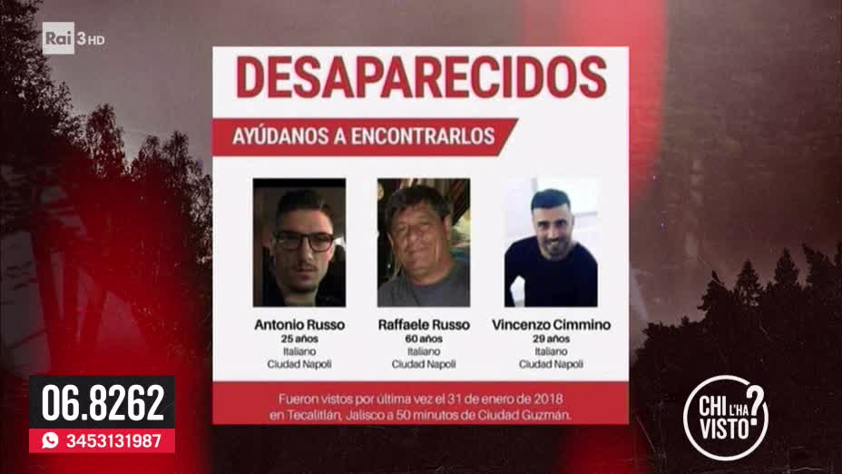 Raffaele, Antonio e Vincenzo scomparsi in Messico - 28/02/2018