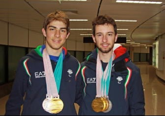 Paralimpiadi:rientrati Bertagnolli-Casal