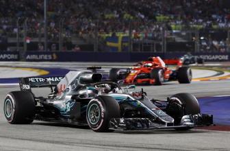 F1:Singapore,vince Hamilton e Vettel 3/o