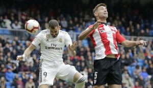 R.Madrid: tripletta Benzema, Athletic ko