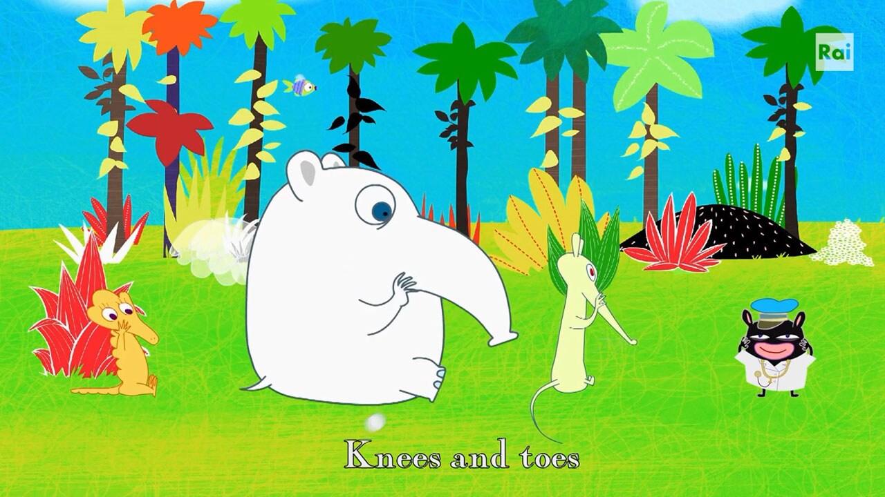 Rai Yoyo Dixi's Simple Songs - S1E12 - Dixi Head, shoulder, knees and toes - Karaoke cantato