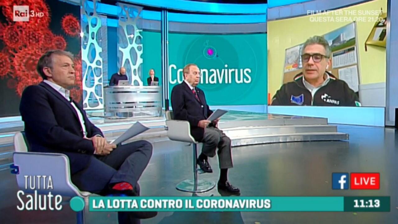 Rai 3 Tutta Salute - Coronavirus; alimenti in cucina; amicizia e solidarietà - 27/03/2020