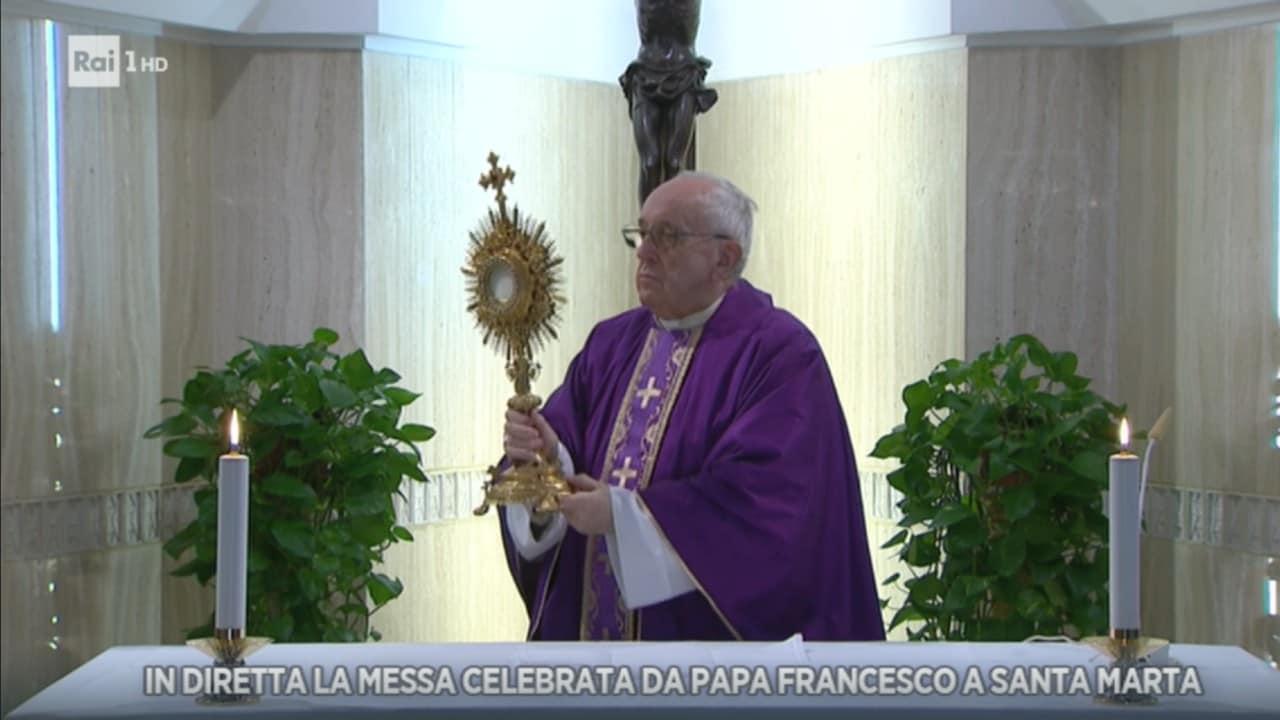 Rai 1 Santa Messa celebrata da Papa Francesco