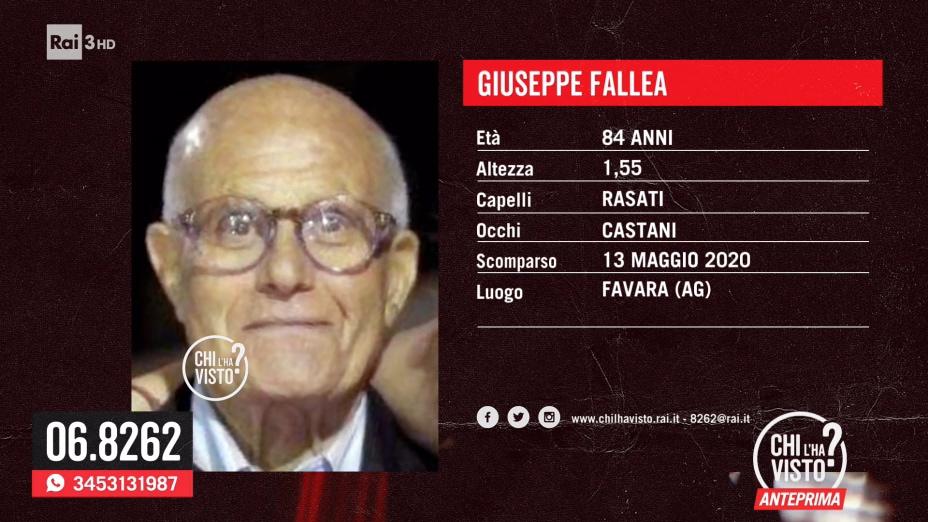 Scomparsa di Giuseppe Fallea - 27/05/2020