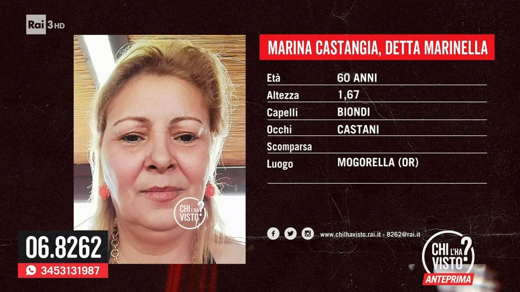 La scomparsa di Marina Castangia - Chi l'ha visto? - 19/05/2021