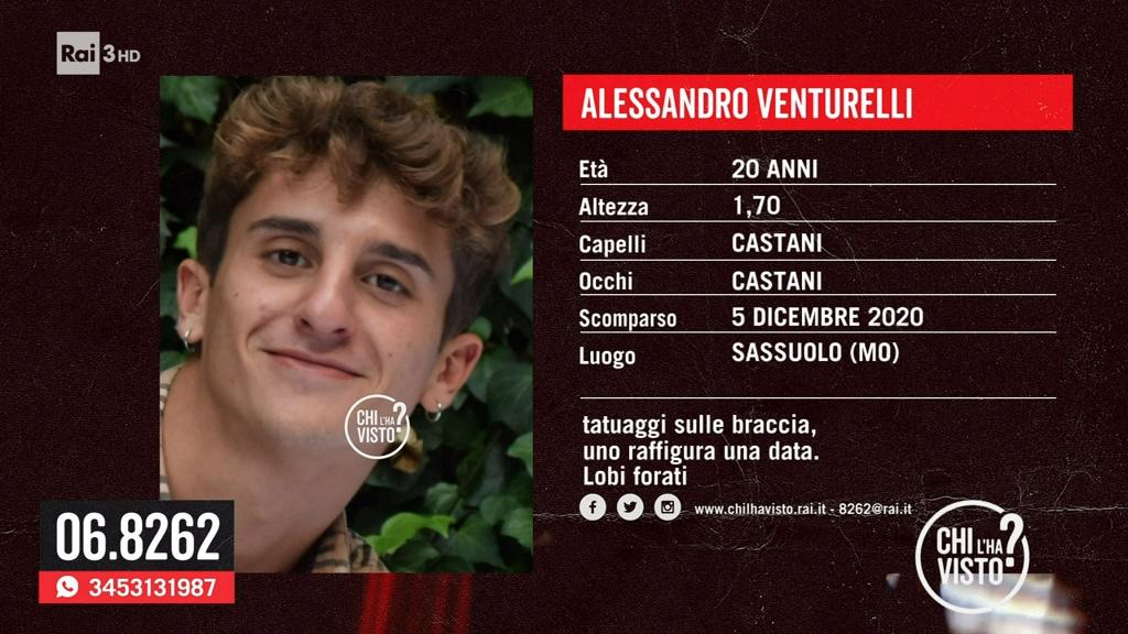 """Alessandro Venturelli: """"Nessuno lo ha visto, aiutateci"""" - Chi l'ha visto? - 23/06/2021"""