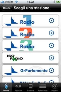 Tutta la radio in tasca for Radio parlamento streaming