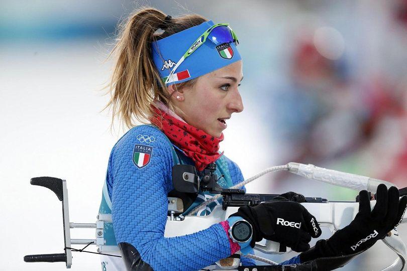 Staffetta mista del biathlon a bersaglio, bronzo azzurro