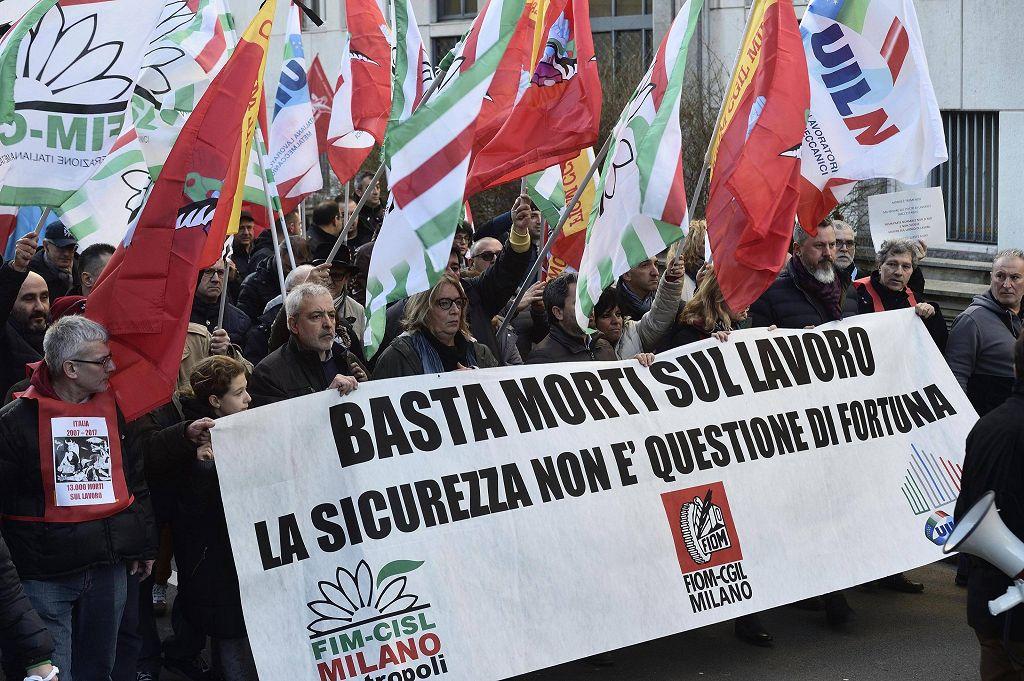 Milano, corteo per la sicurezza sul lavoro - Photogallery ...