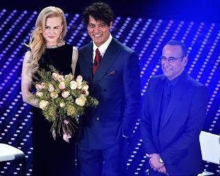Mazzi Di Fiori Sanremo 2016.Sanremo 2016 Incanto Nicole Kidman Niente Di Piu Dolce Dell