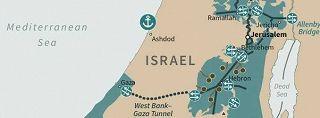 Israele Palestina Cartina.La Mappa Di Trump Con La Sua Visione Di Palestina Un Tunnel Per Collegare Gaza E Cisgiordania Photogallery Rai News