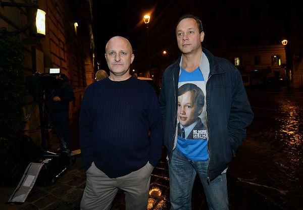 Roma. Andrew Collins e Peter Blenitiron, vittime di abusi del clero australiano (GettyImages)
