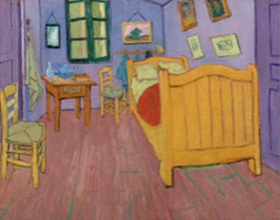 Van Gogh: la Camera gialla aveva le pareti viola.Guardate come il ...