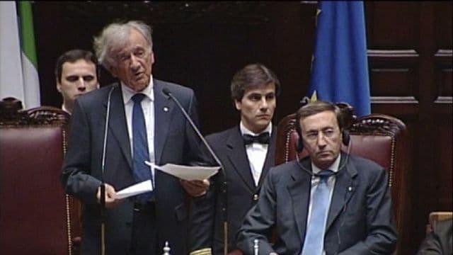 Storie della shoah il discorso di elie wiesel al for Concorsi parlamento italiano 2017