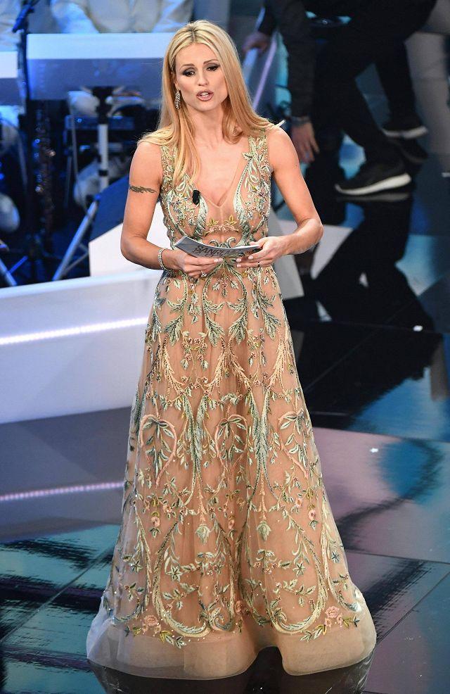 Michelle Hunziker, Sanremo 2018 (Ansa)