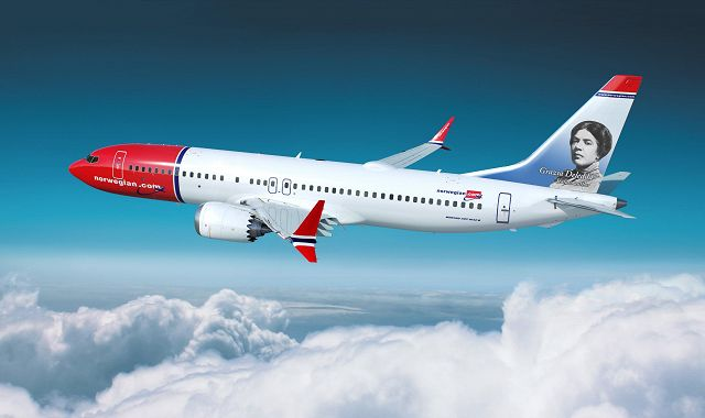 Un aereo Norwegian dedicato alla scrittrice premio Nobel
